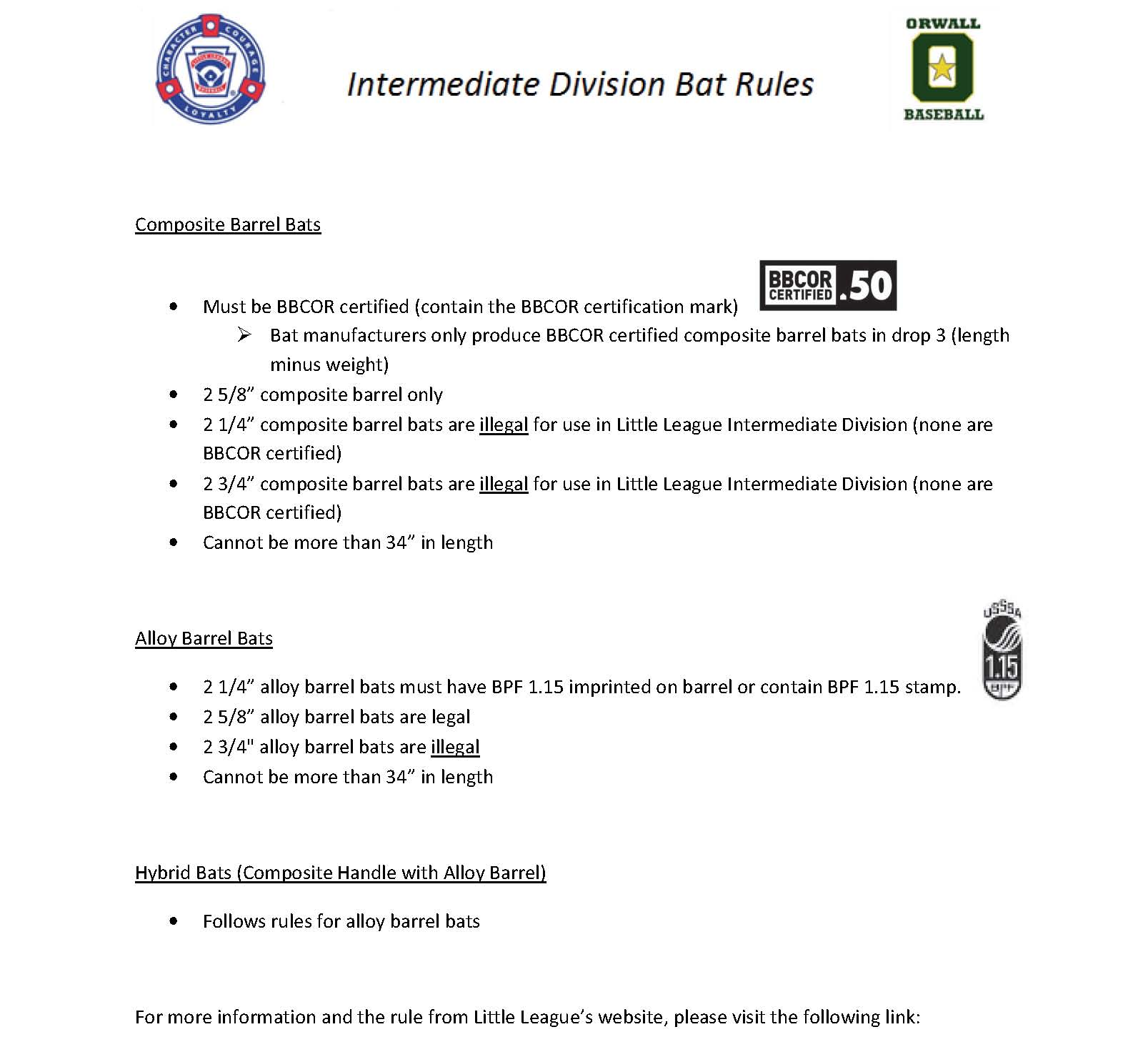 Intermediate Bat Rules